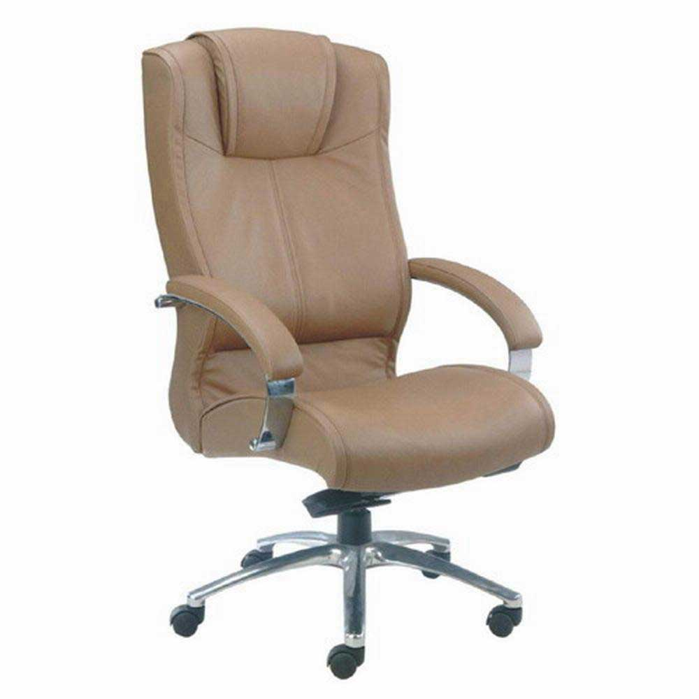 brown leather high back ergonomic office chairs
