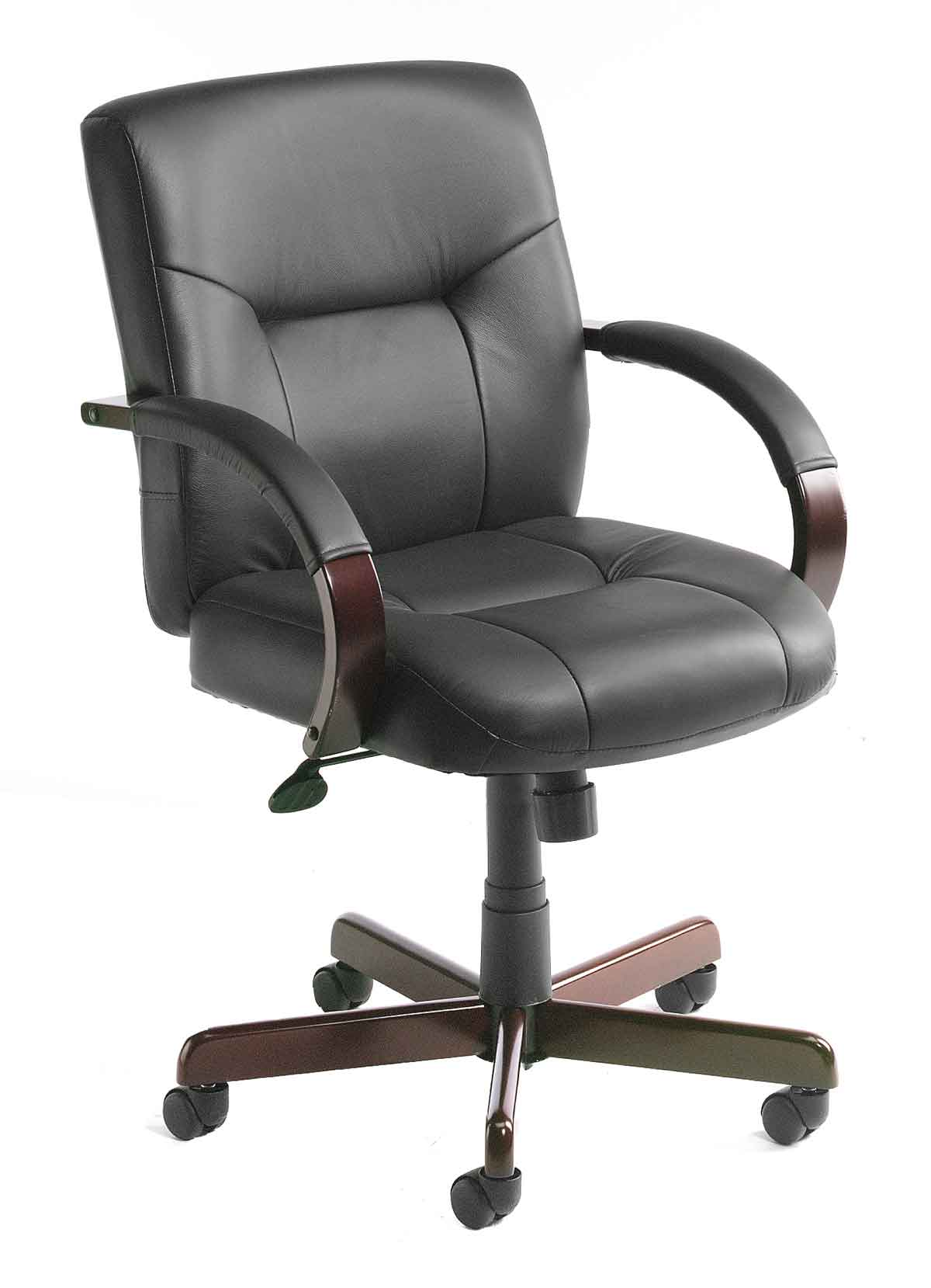 cheap desk leather chairs
