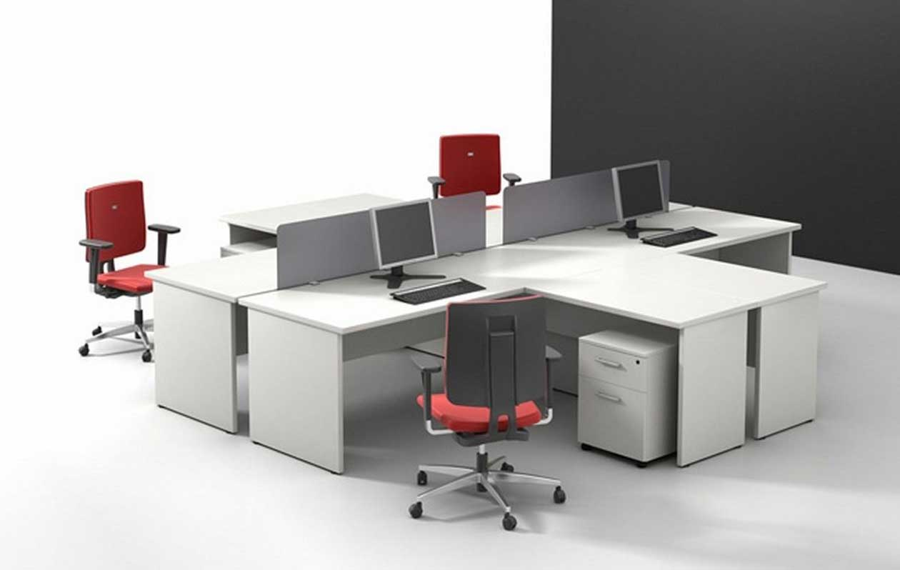 built in office desk designs