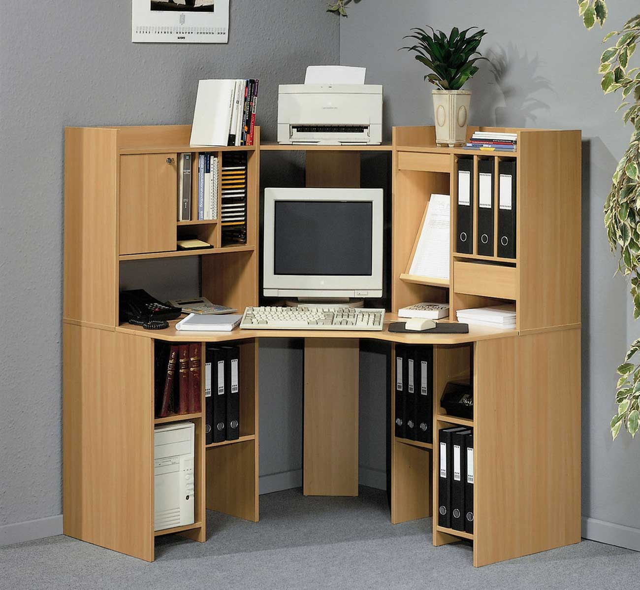 Corner computer desks for home office - Meuble ordinateur angle ...