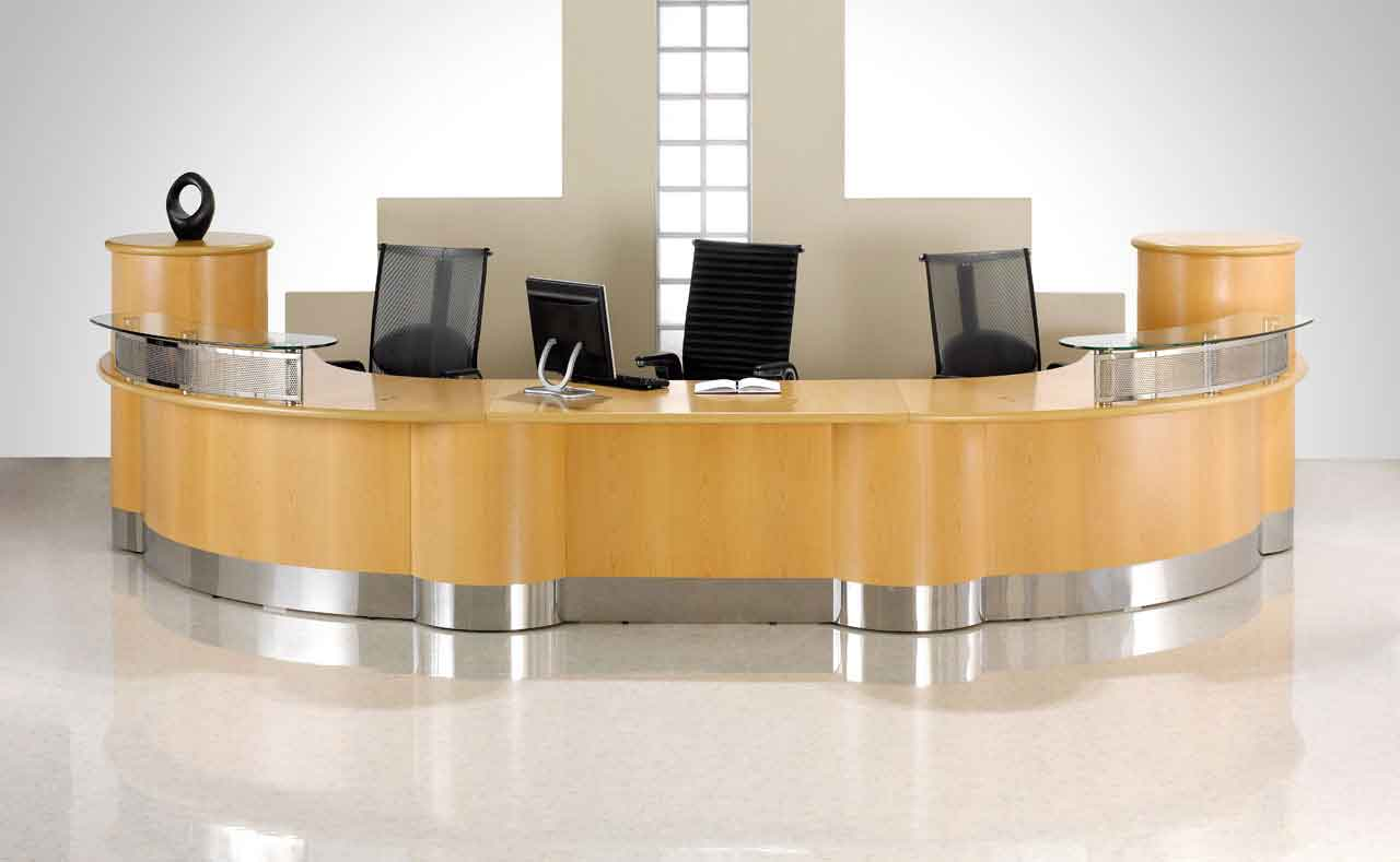corporate reception furniture desk