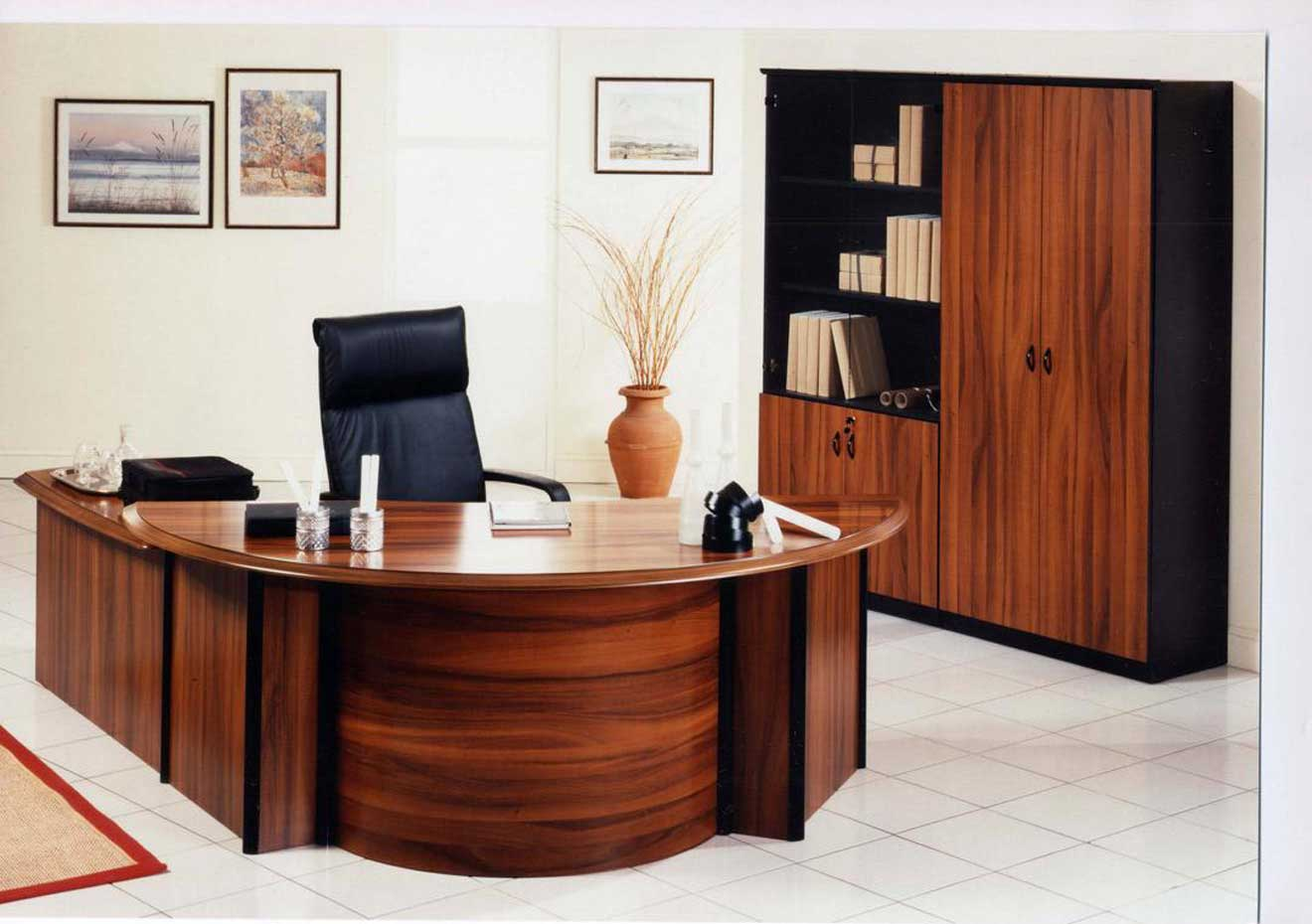 Built in office desk designs Executive home office ideas