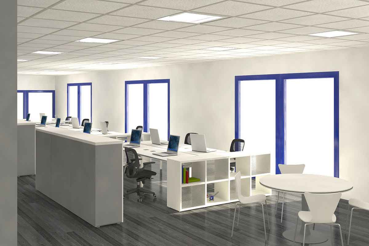 Modern office interior design for Commercial office space design ideas