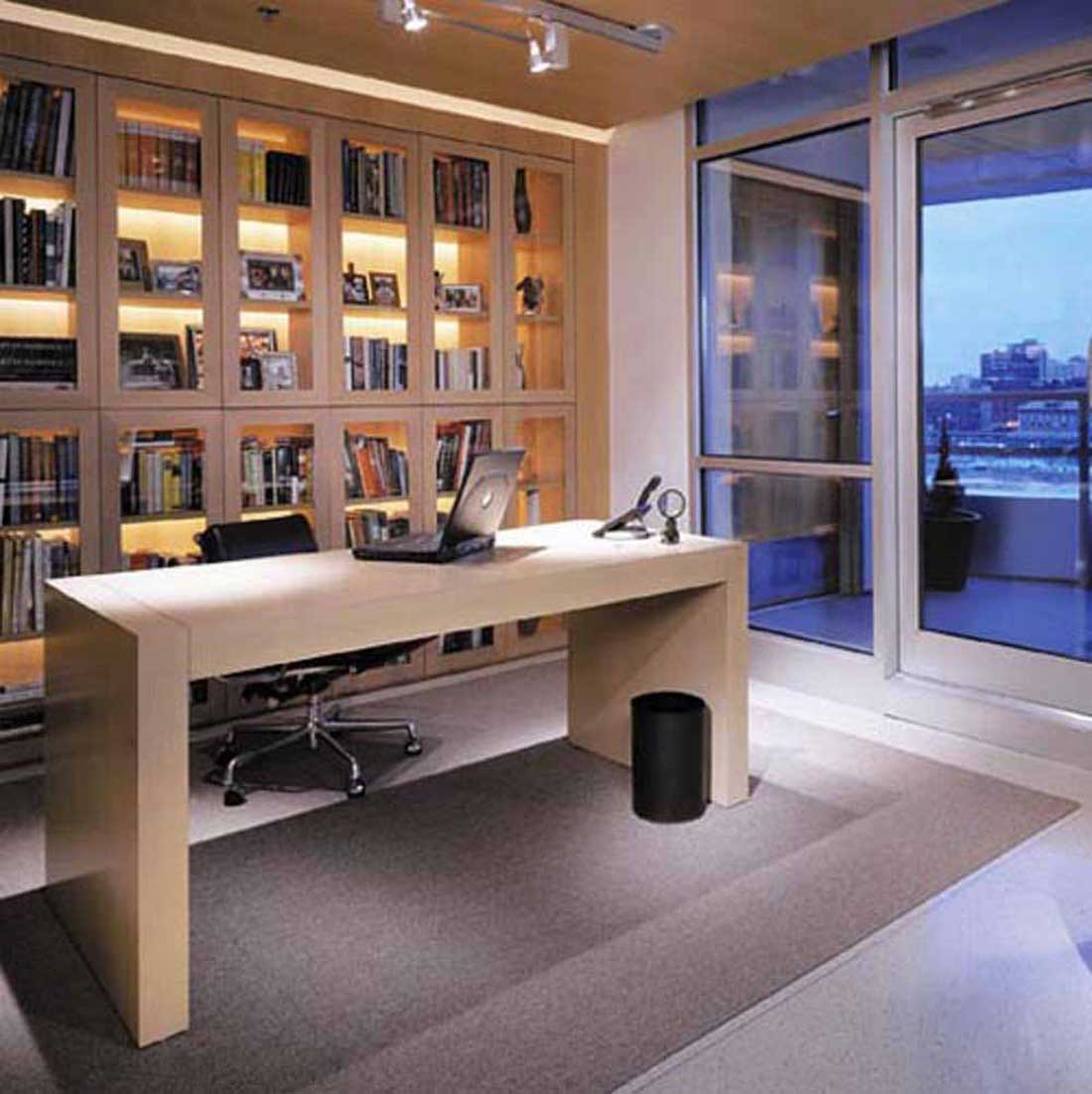 Home office design ideas for big or small spaces for Modern office space layout