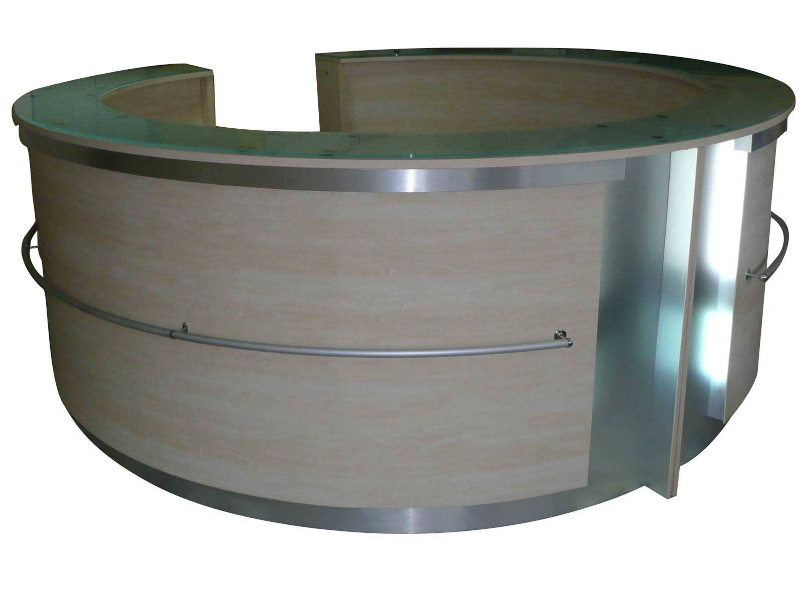 round reception desk furniture