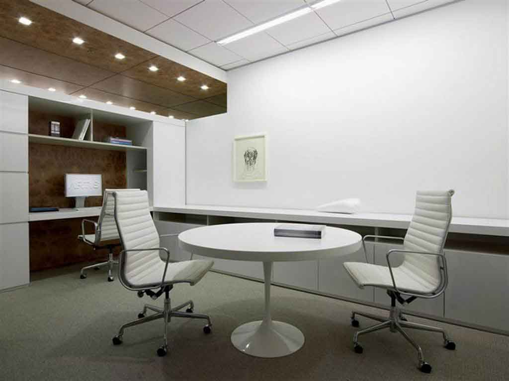 sleek modern office interior design