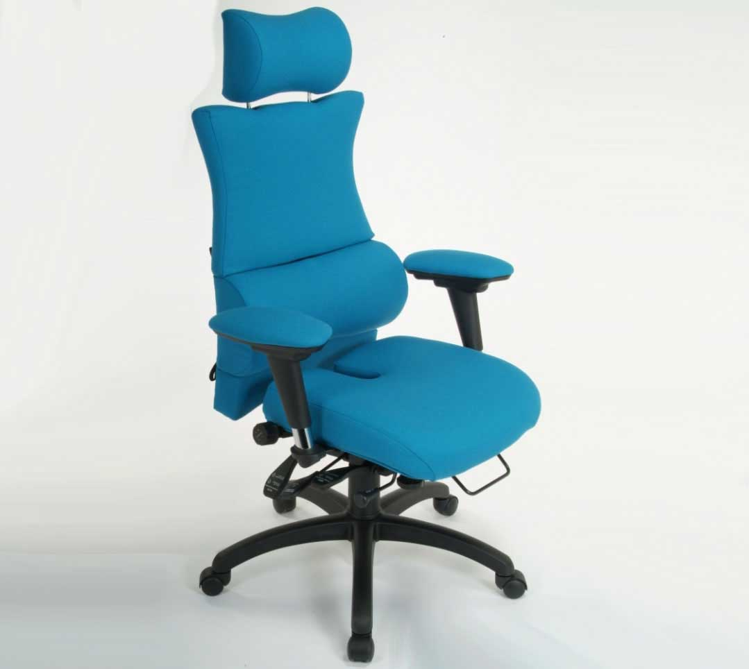 turquoise modern ergonomic executive office chair
