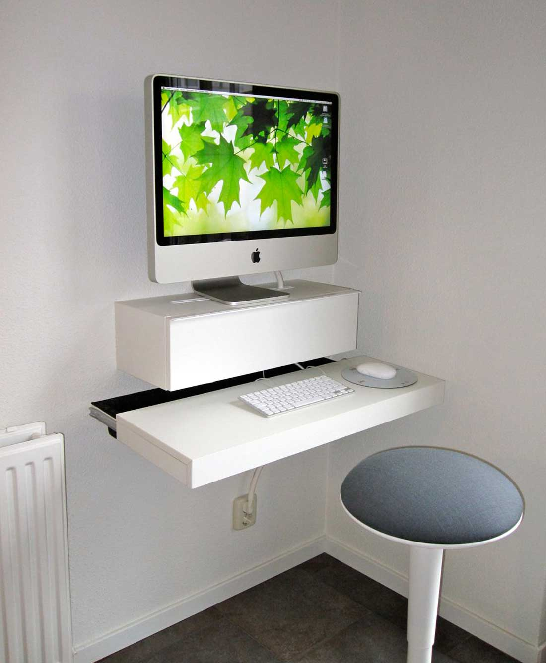 ikea computer desk office furniture mac