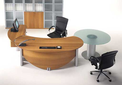 wooden modern executive office furniture desk