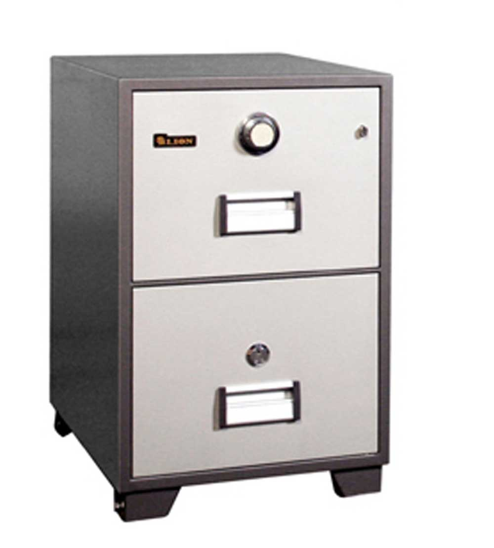 2 Drawers Fire Resistant Filing Cabinets