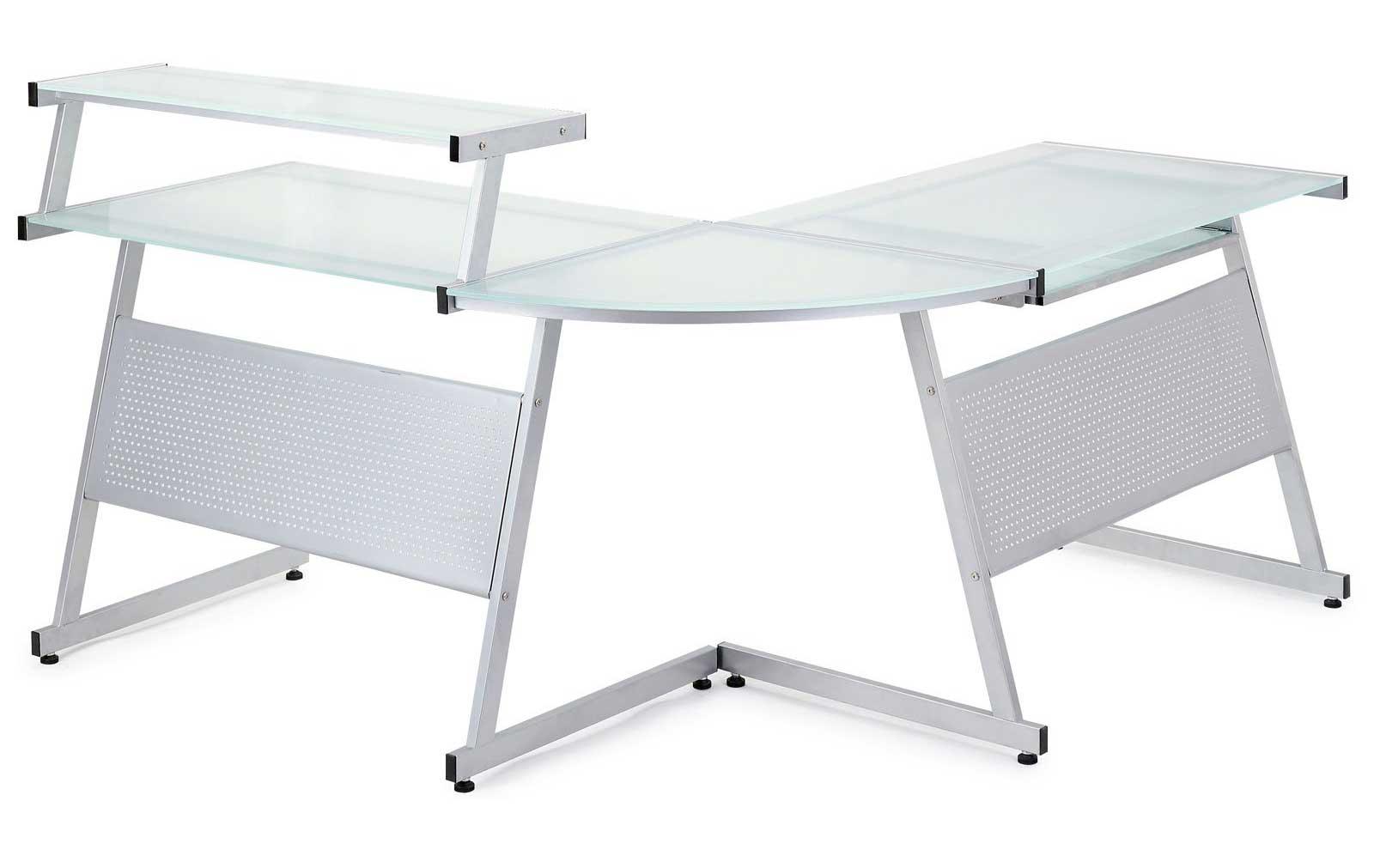 Acero Corner Desk with Solid Glass