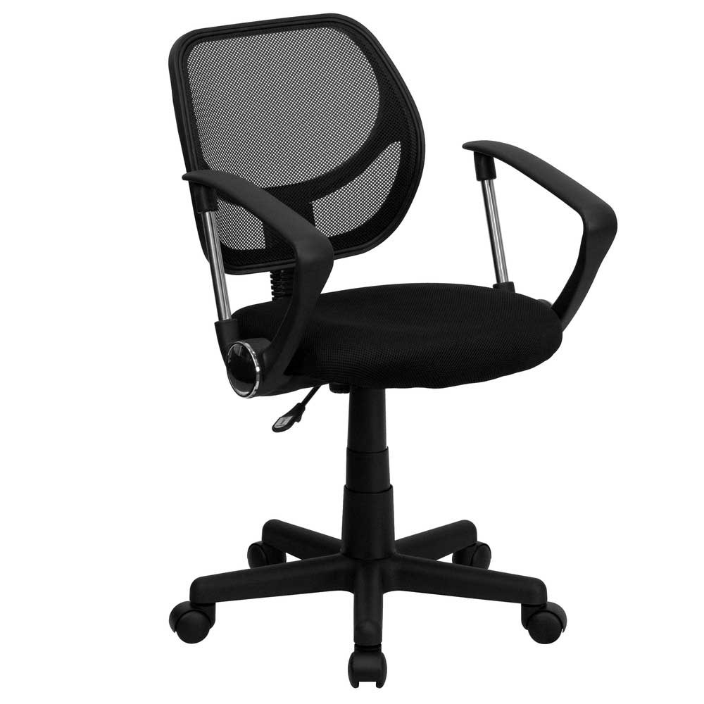 Adjustable Armrest Black Mesh Computer Office Chair