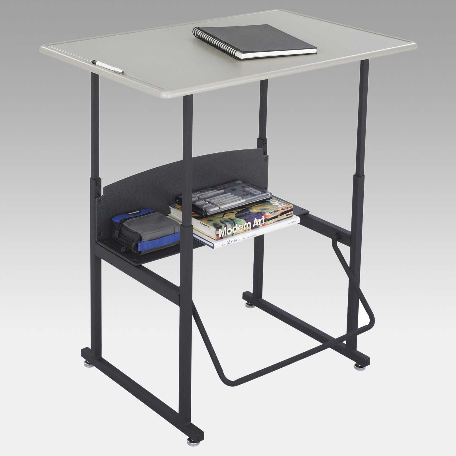 AlphaBetter Metal Computer Desk with Adjustable Height