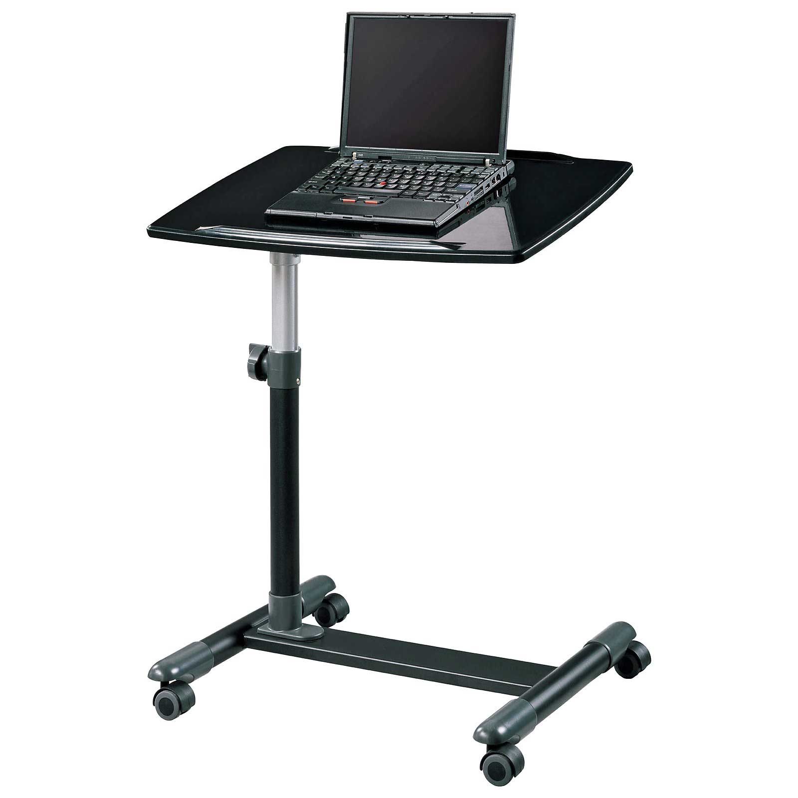 Ameriwood High Gloss Black Computer Laptop Cart