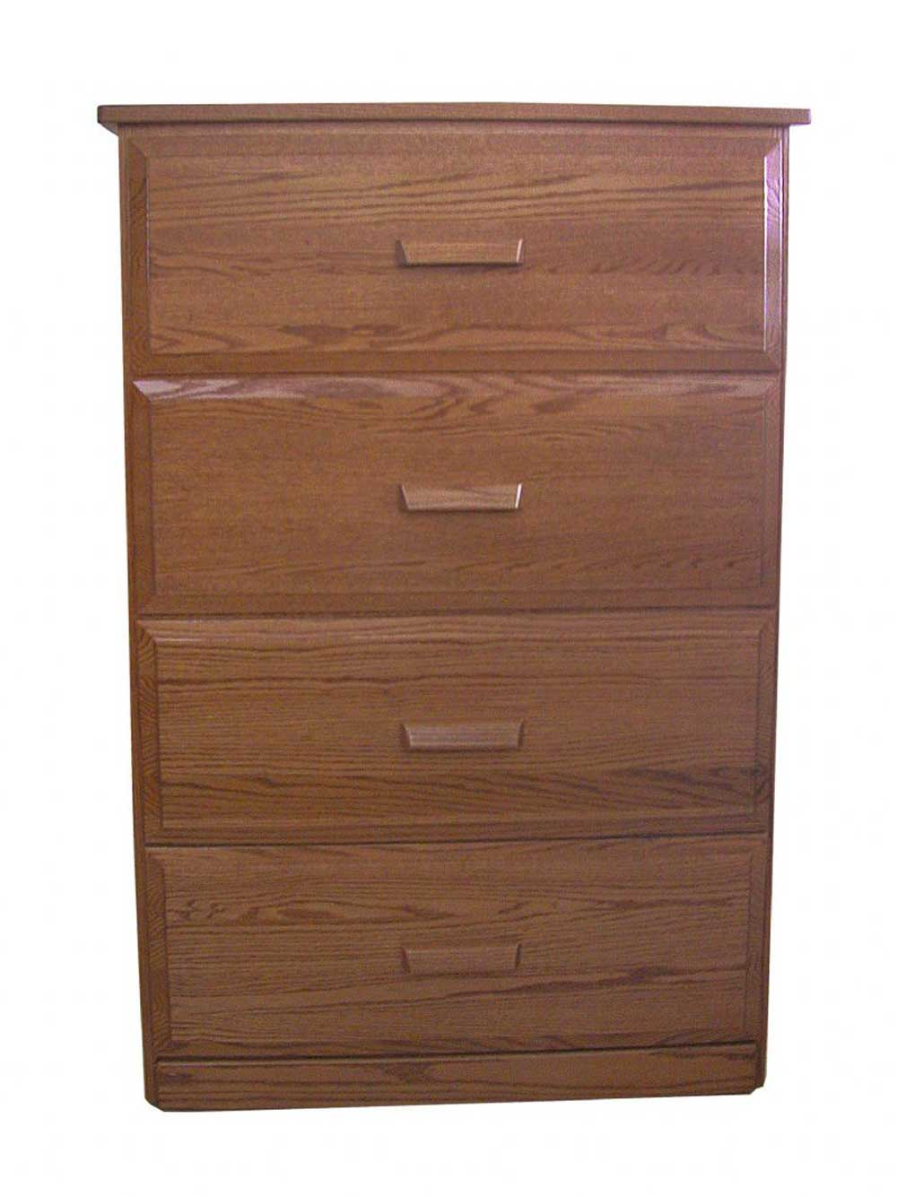 Amish Lateral Wood Filing Cabinet with Four Drawers