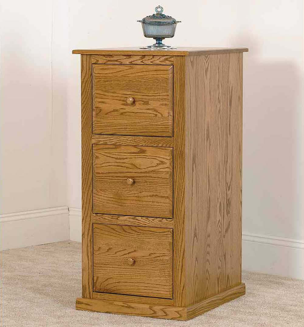 Amish Salem Three Drawer File Cabinet