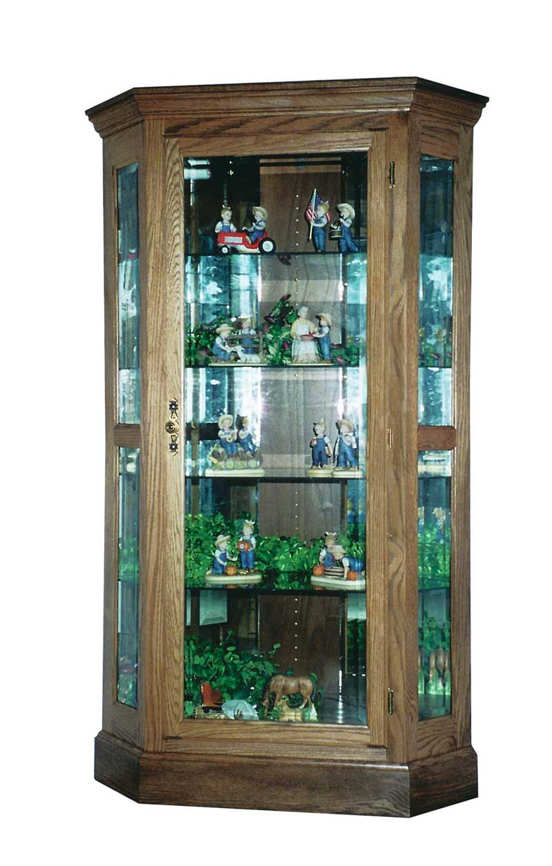 Amishills glass construction corner curio cabinet