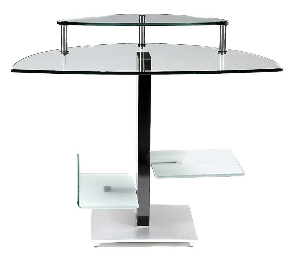 Bellini Modern Living Zone Glass Computer Desk