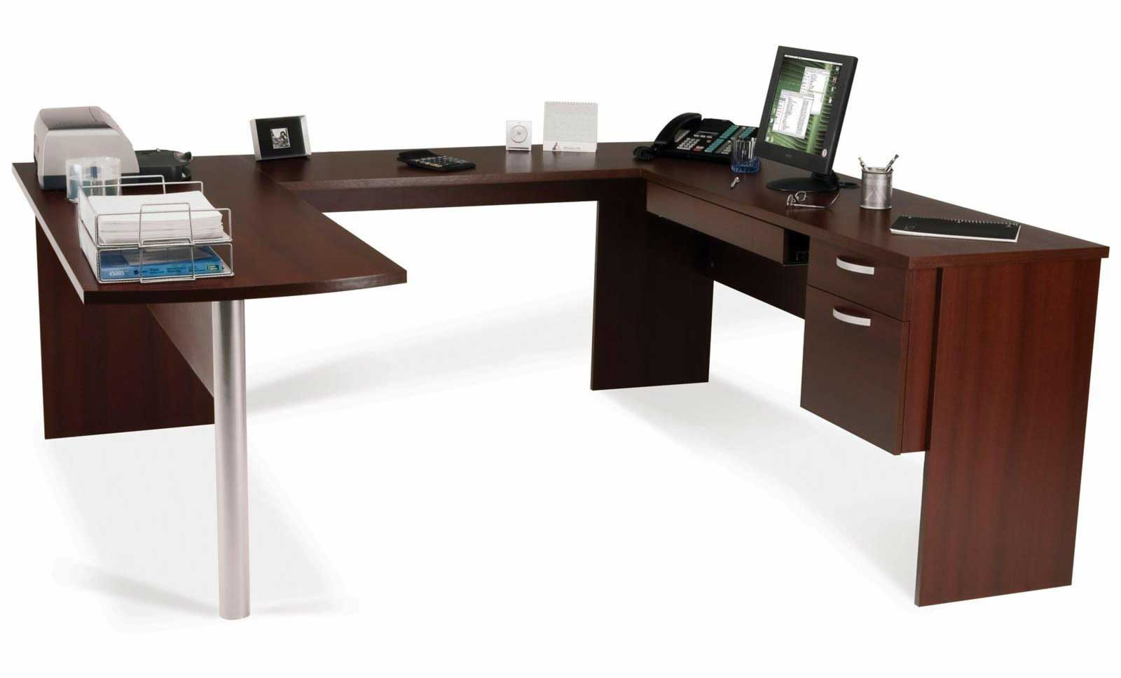 Bestar Inspace Oak U-Shaped Corner Computer Desk