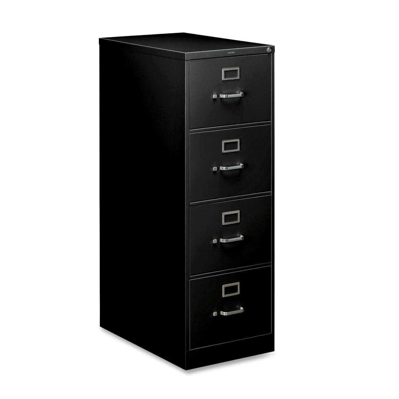 Black HON Vertical File Cabinets with Lock