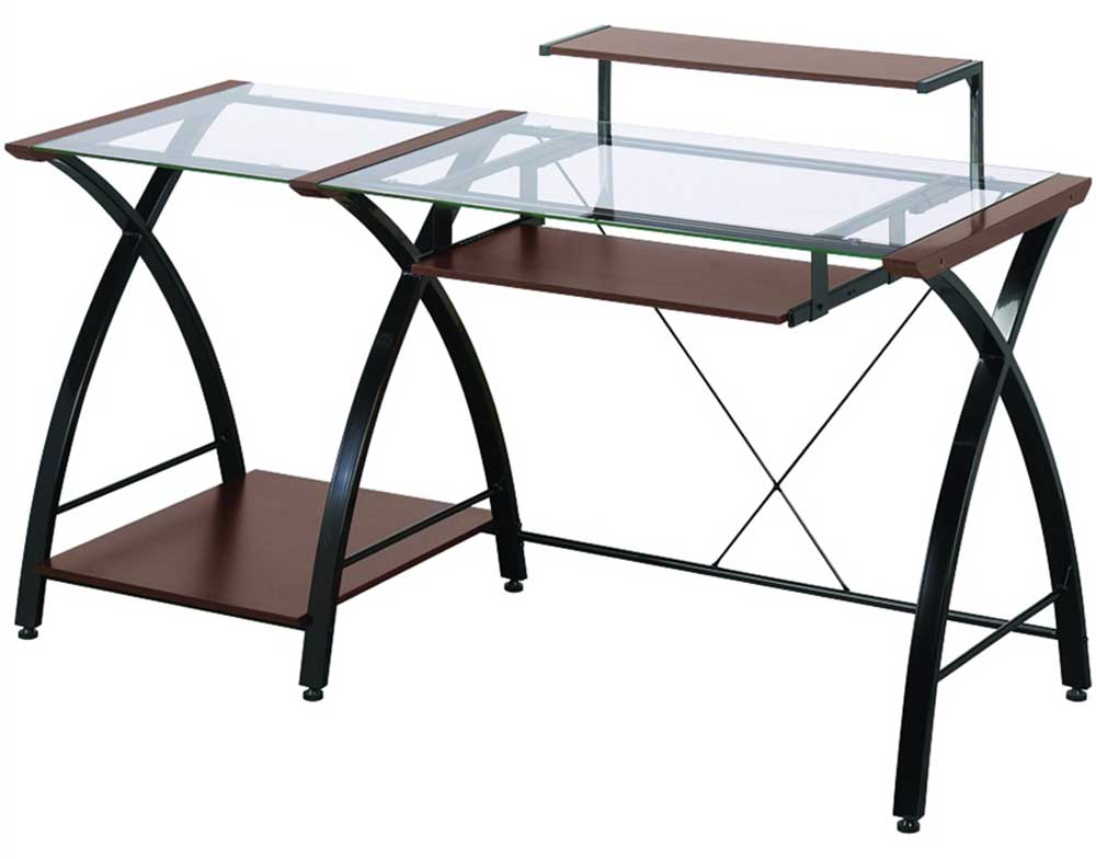 Line Glass Computer Desk for Home Office | Office Furniture