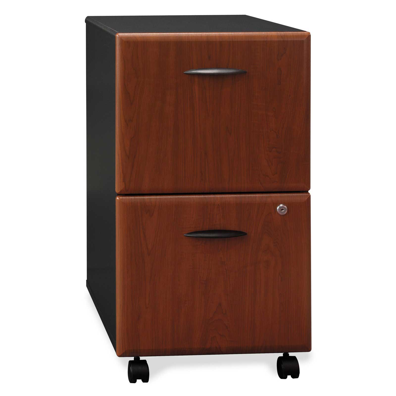 Bush Vertical 2 Drawer Filing Cabinet with Wheels
