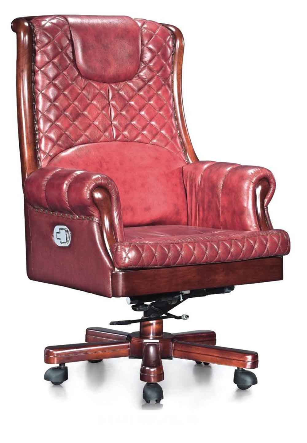 Classical Red leather desk chairs