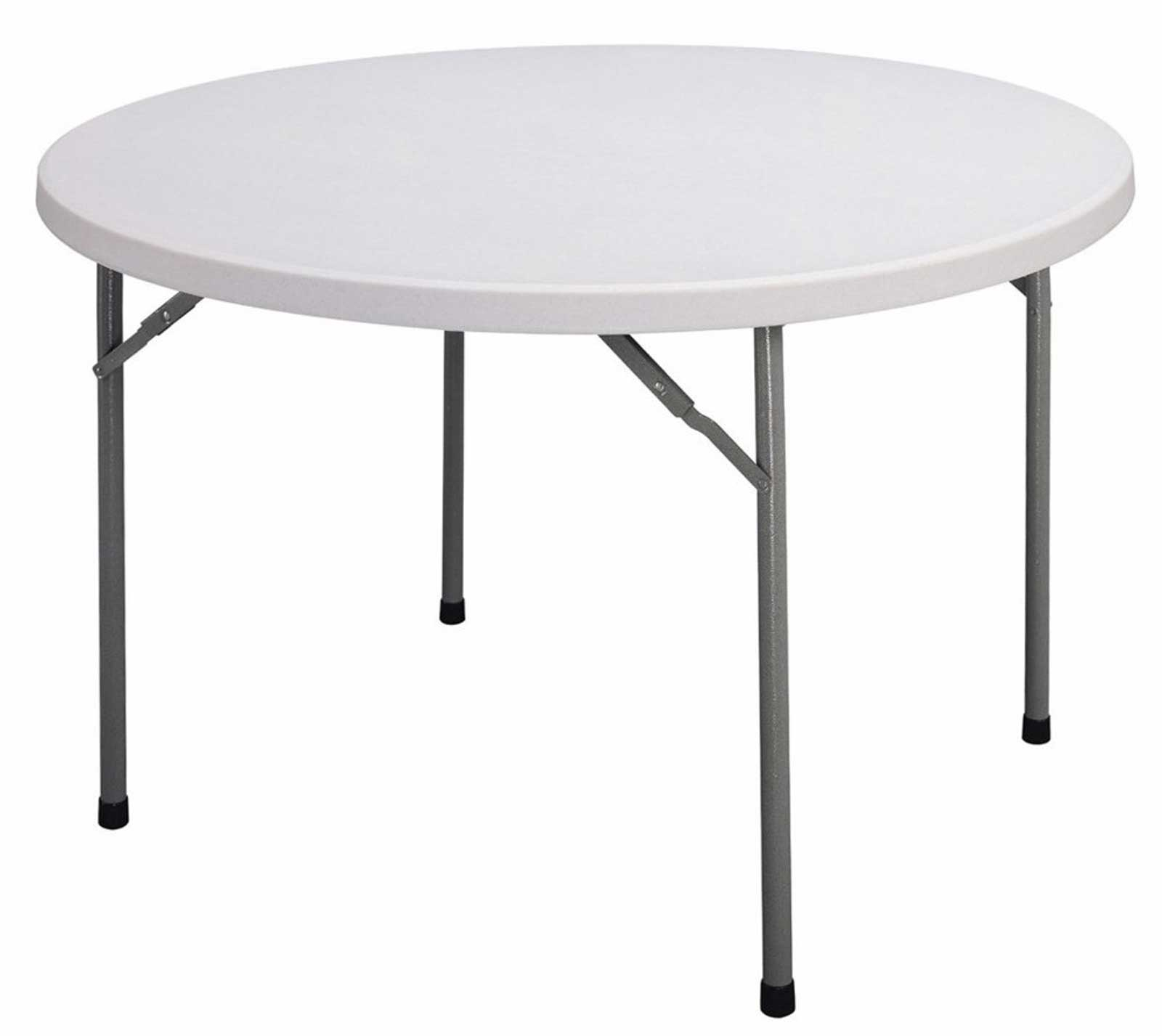 Clean Plastic Folding Table with Blow Molded Design