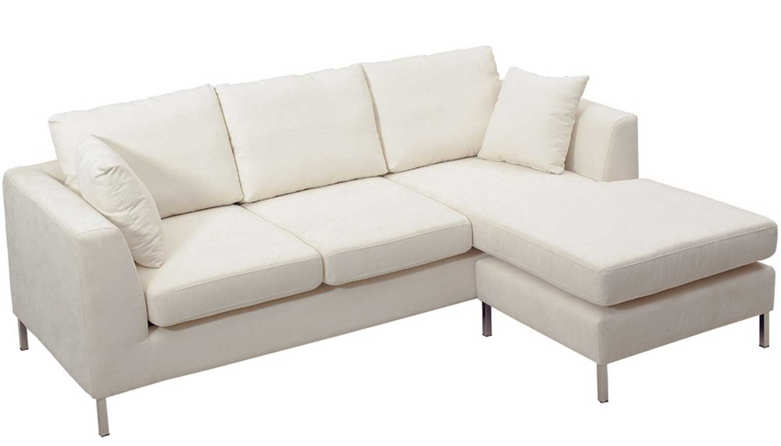 Clean White Microfiber Corner Sofa from Tosh Furniture