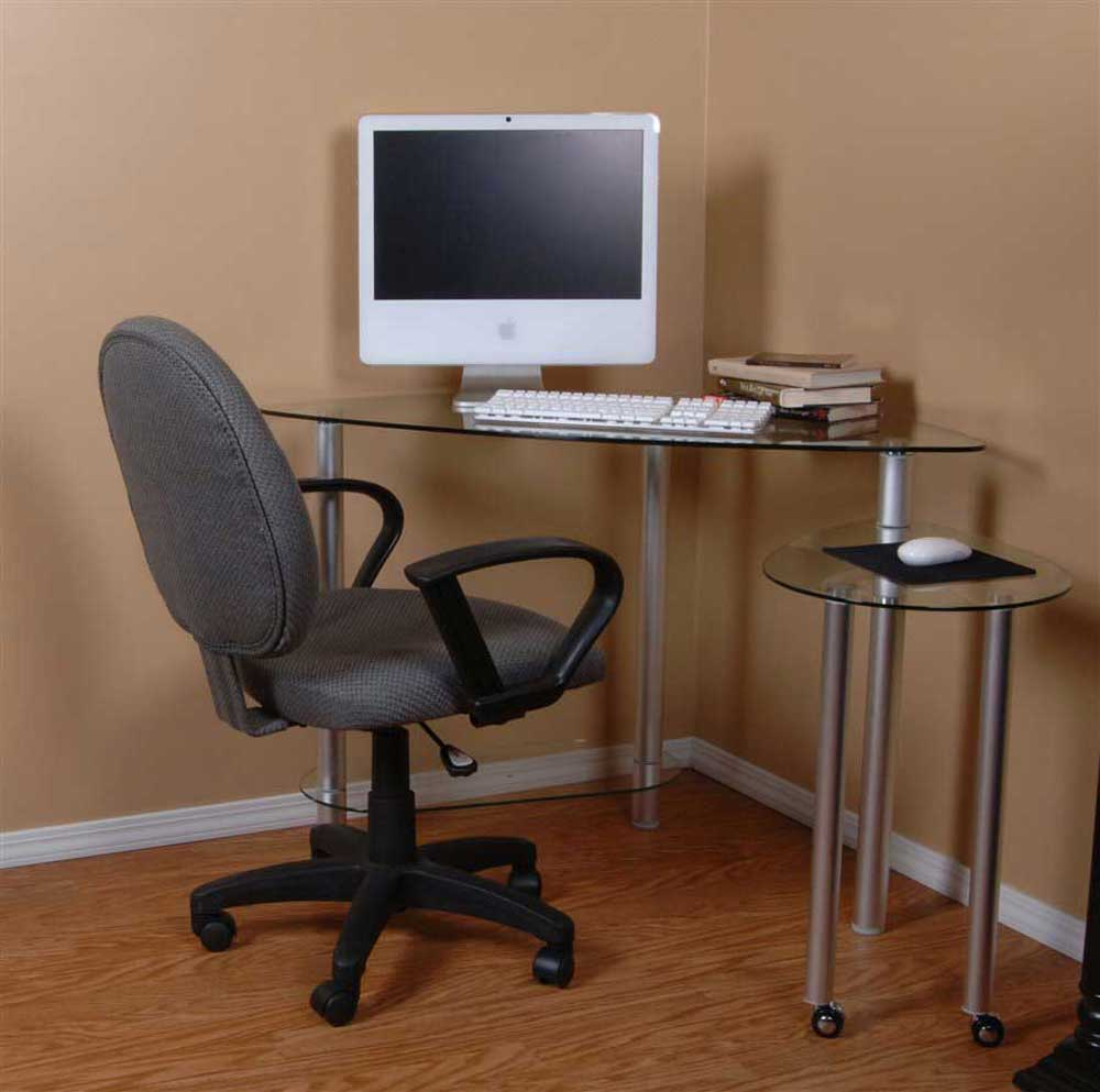 glass corner desk for home office