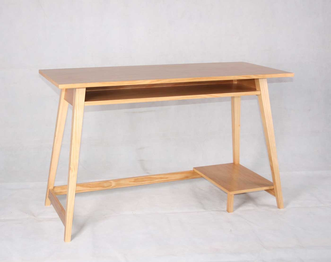 Desk Building Plans: Simple Wood Computer Desk, Craftsman Style ...