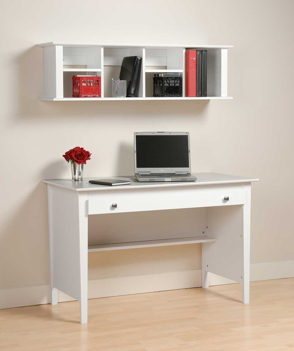 Contemporary Laptop Desk with Maple Hutch