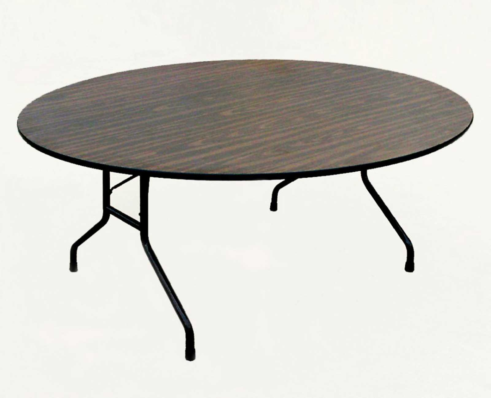Correll Walnut High Pressure Top Round Folding Table 60