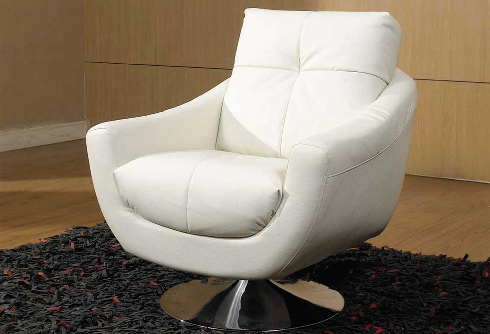 Leather swivel chairs for home office user for Modern white office chair