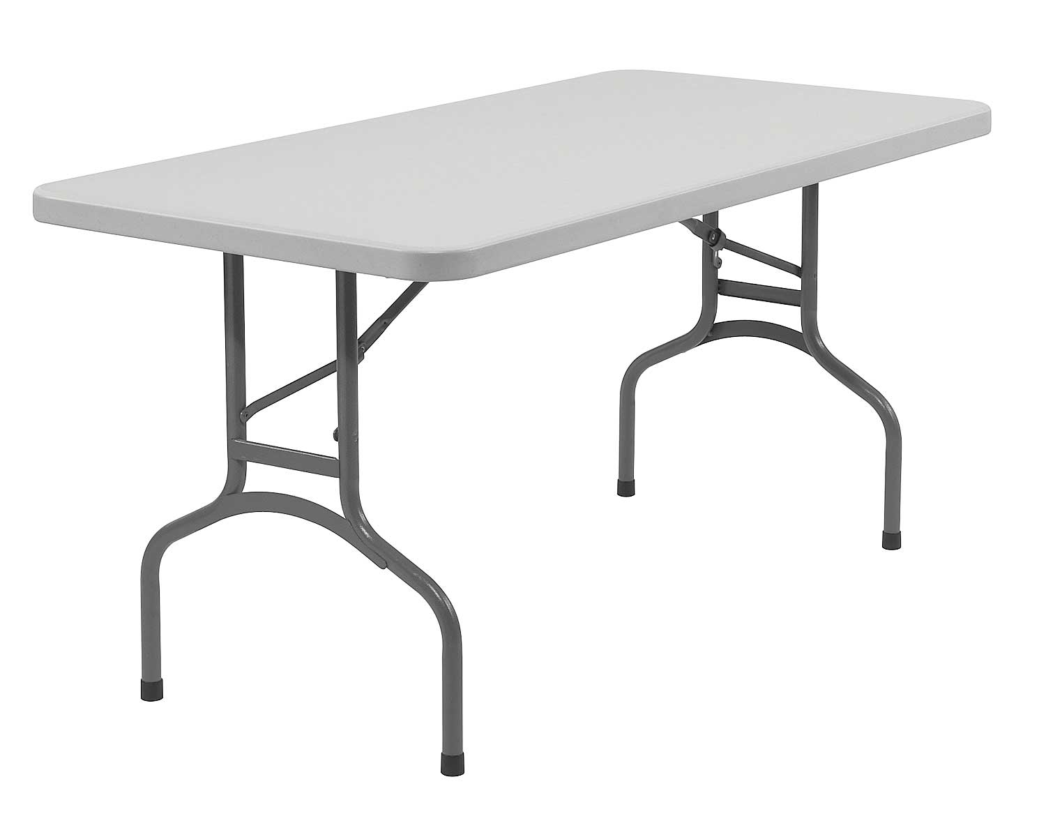 Durable ABS white plastic folding table
