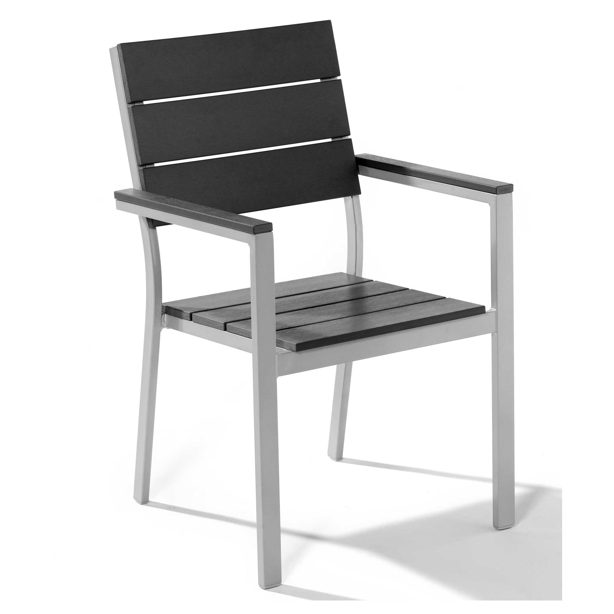 Durable Black Metal Lawn Chair Design