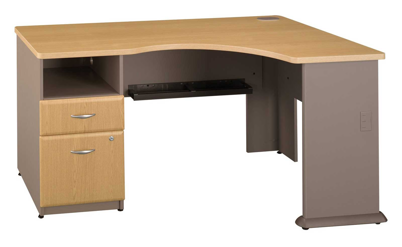 black computer corner desk office furniture
