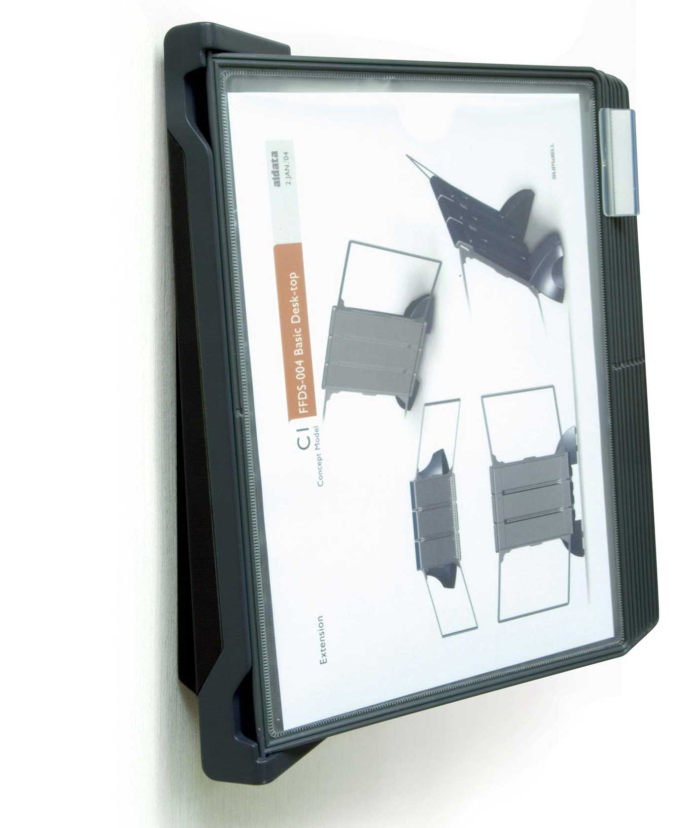 Flip and Find Wall Mount Document Organizer
