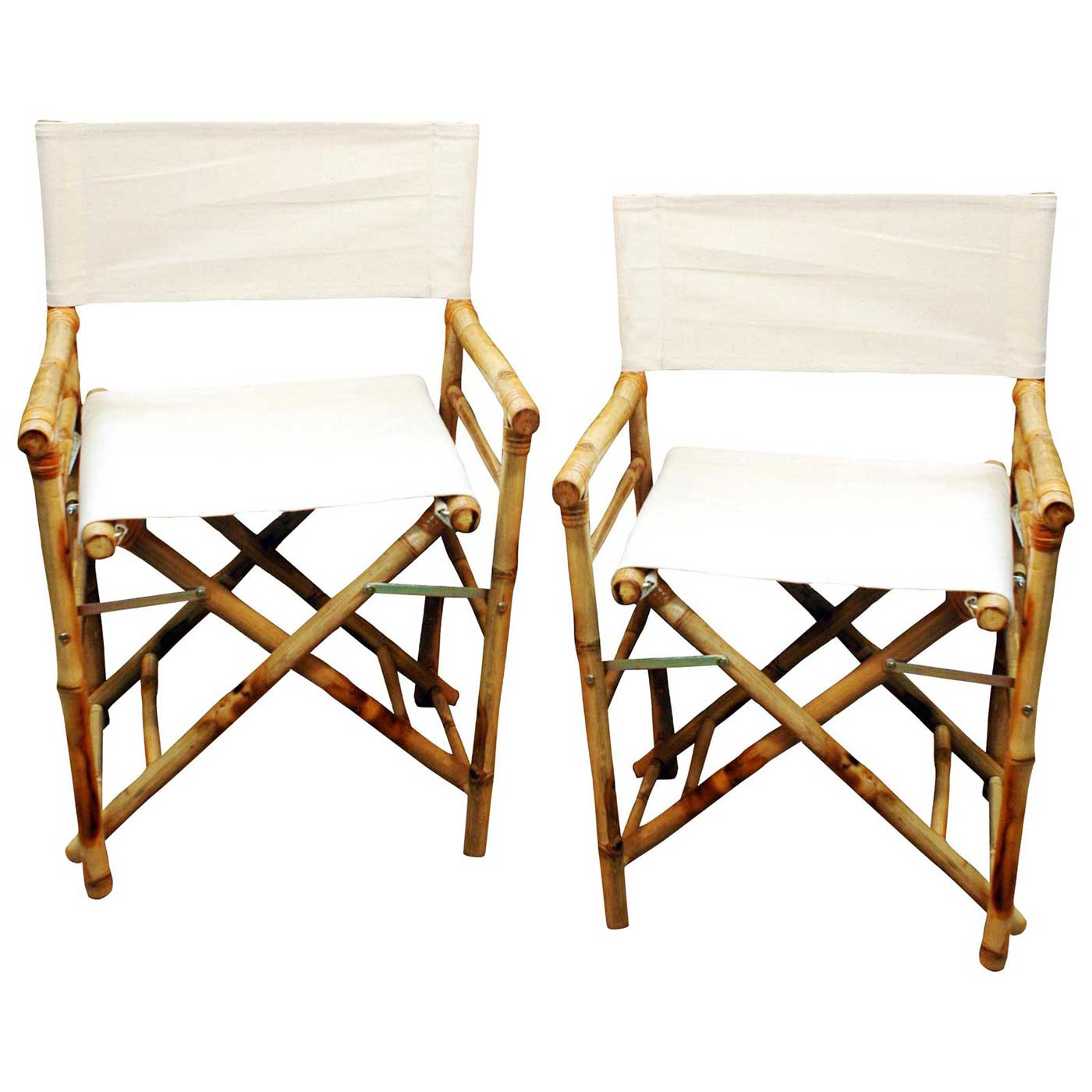 Foldable Canvas Cover Bamboo Directors Chairs