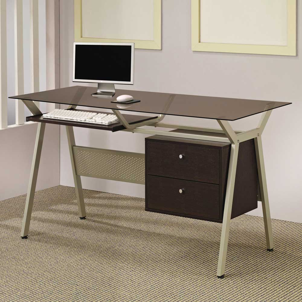 Glass Computer Desks For Home Office