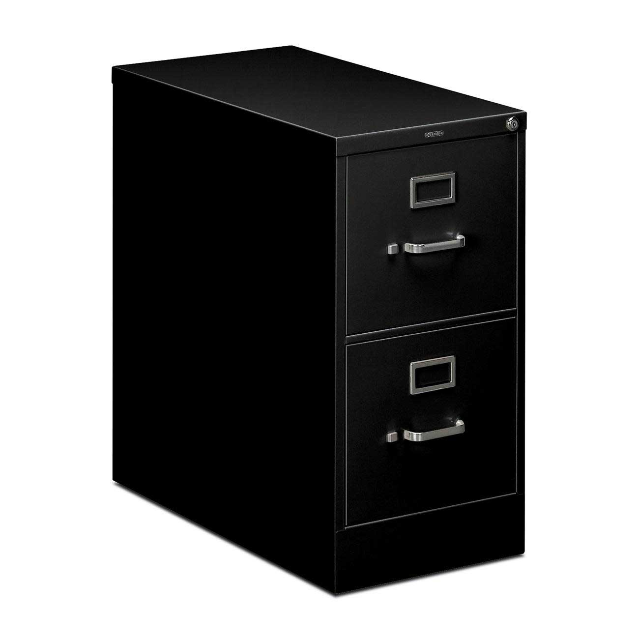HON 212PP 2 Drawers Metal Black Vertical Office Cabinet with Lock