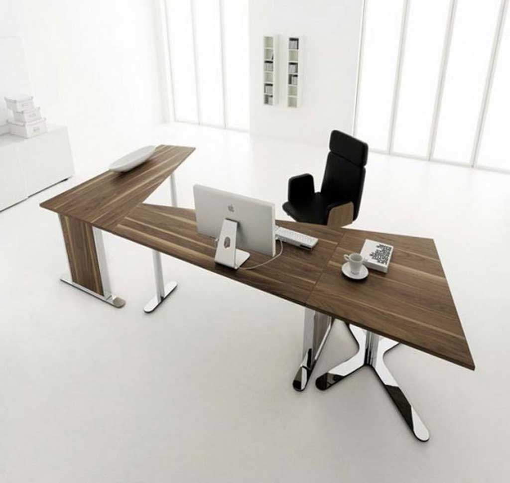 Huelsta Modern Wooden Office Desks Furniture