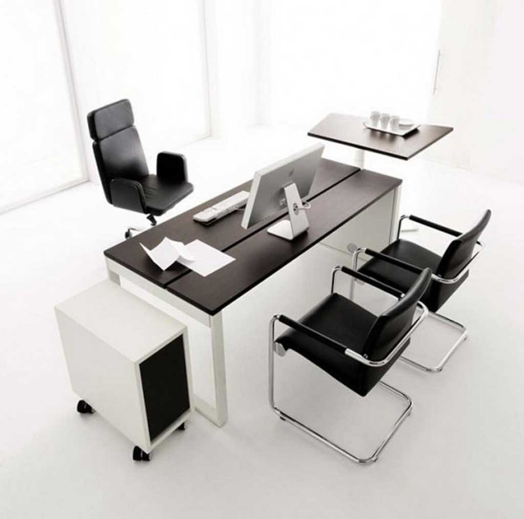 Office desks furniture ideas and types for Simple office design