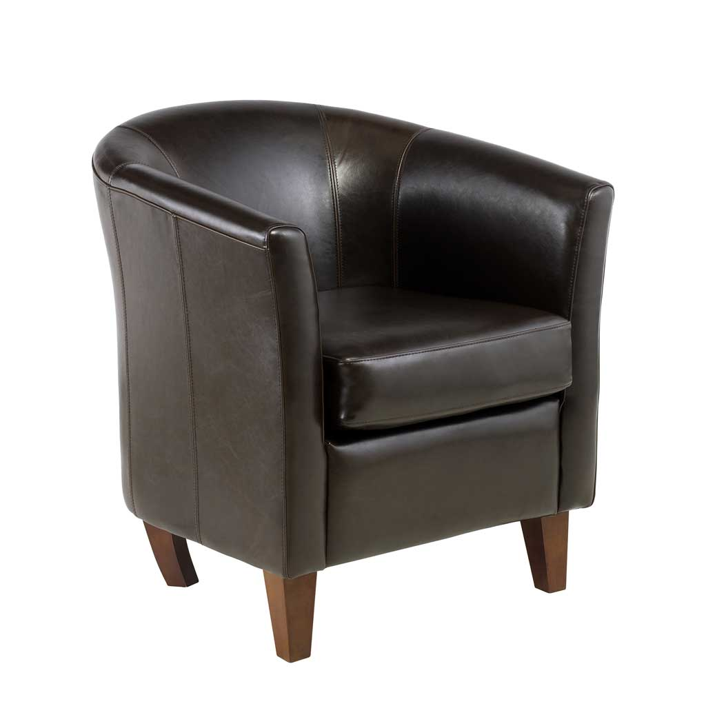 Leather tub chair for perfect home office for Cheap leather chairs