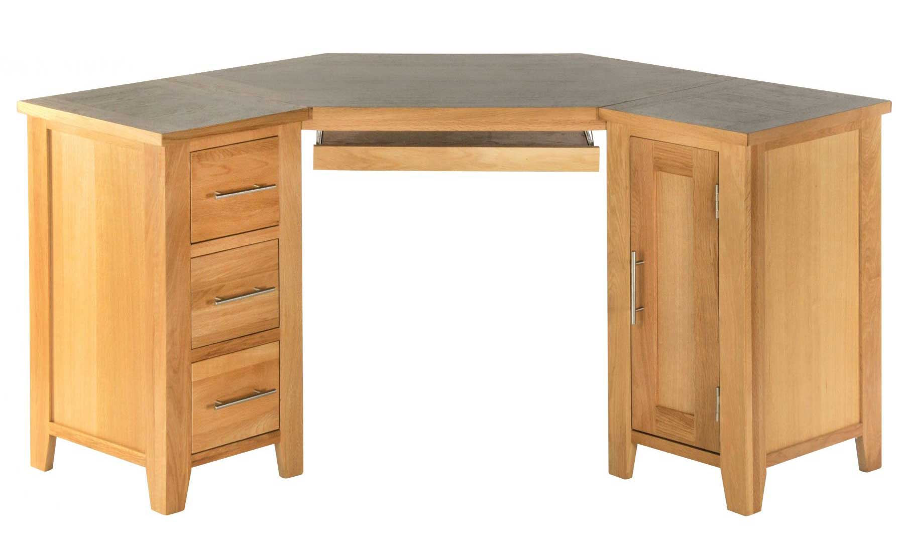 Oak Corner Computer Desks for Home Office