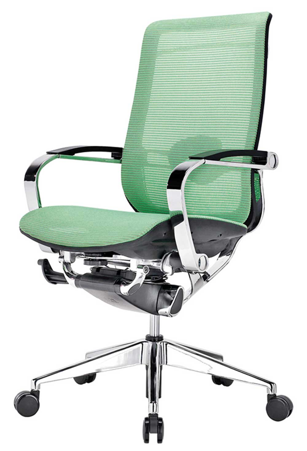 Lime green mesh ergonomic home office chairs