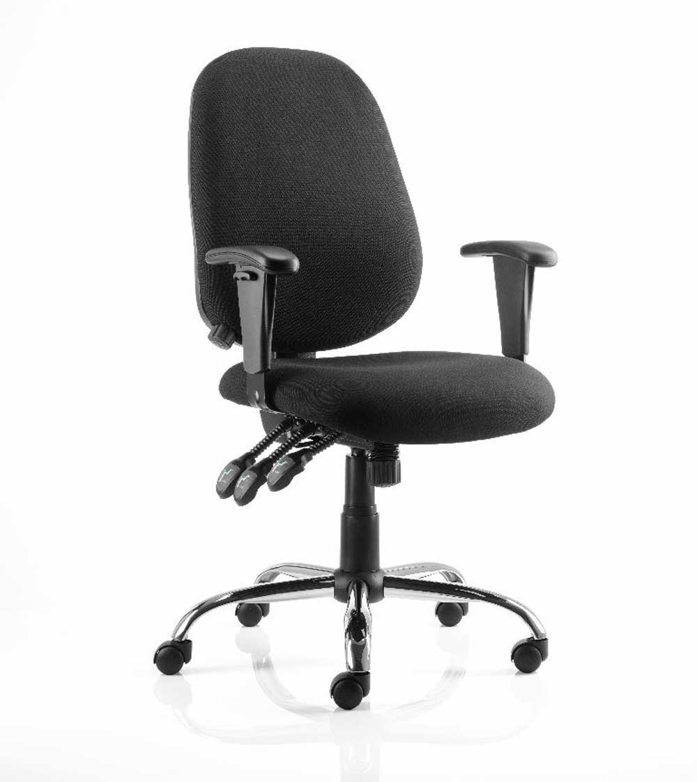 Lisbon Black Ergonomic Home Office Chair
