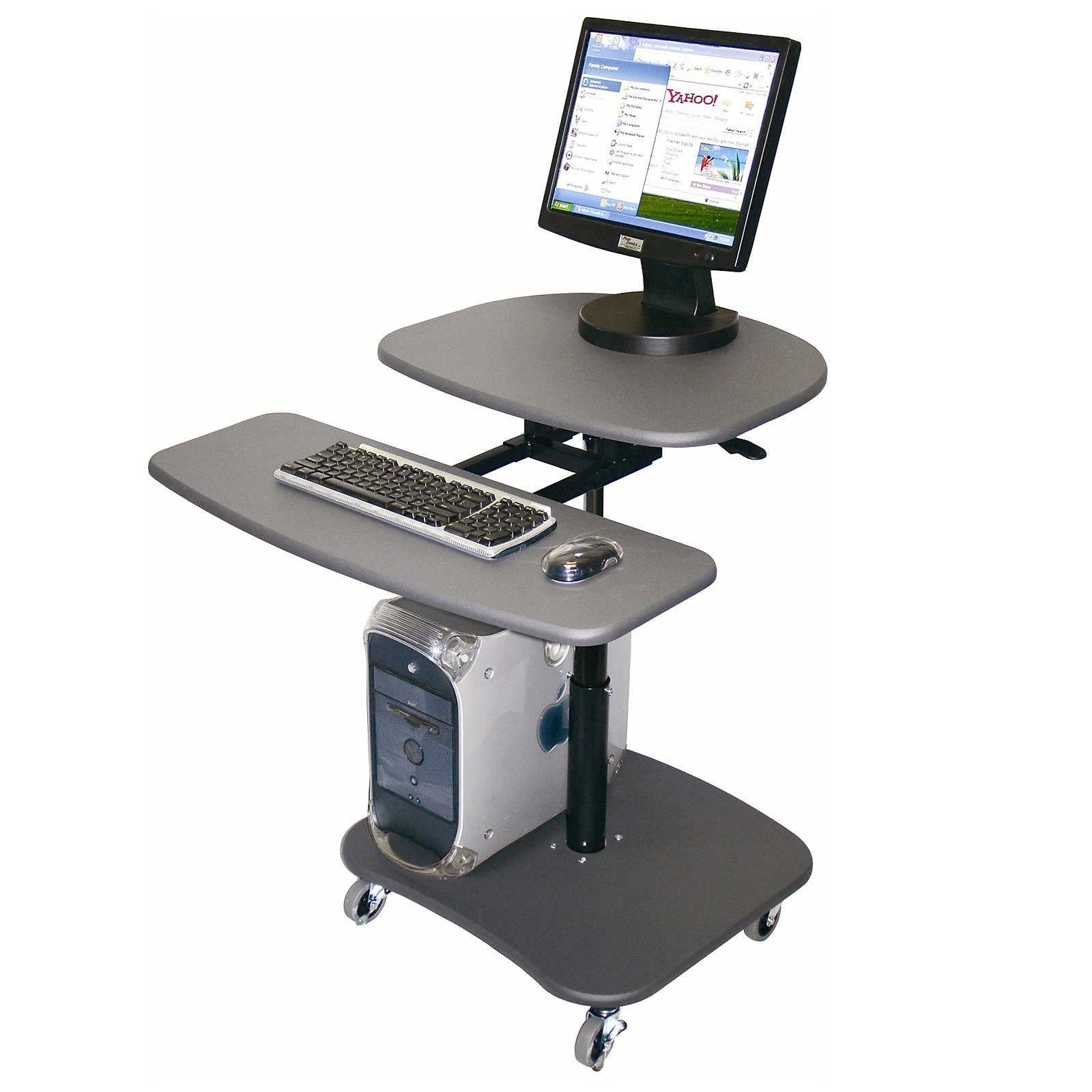 Luxor Mobile Computer Workstation with Adjustable Height