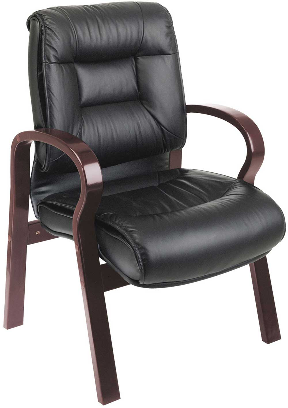 Luxury Low Back Guest Leather Office Chair