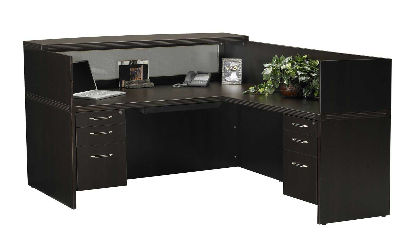 Mayline Aberdeen Reception Desk with Cabinet